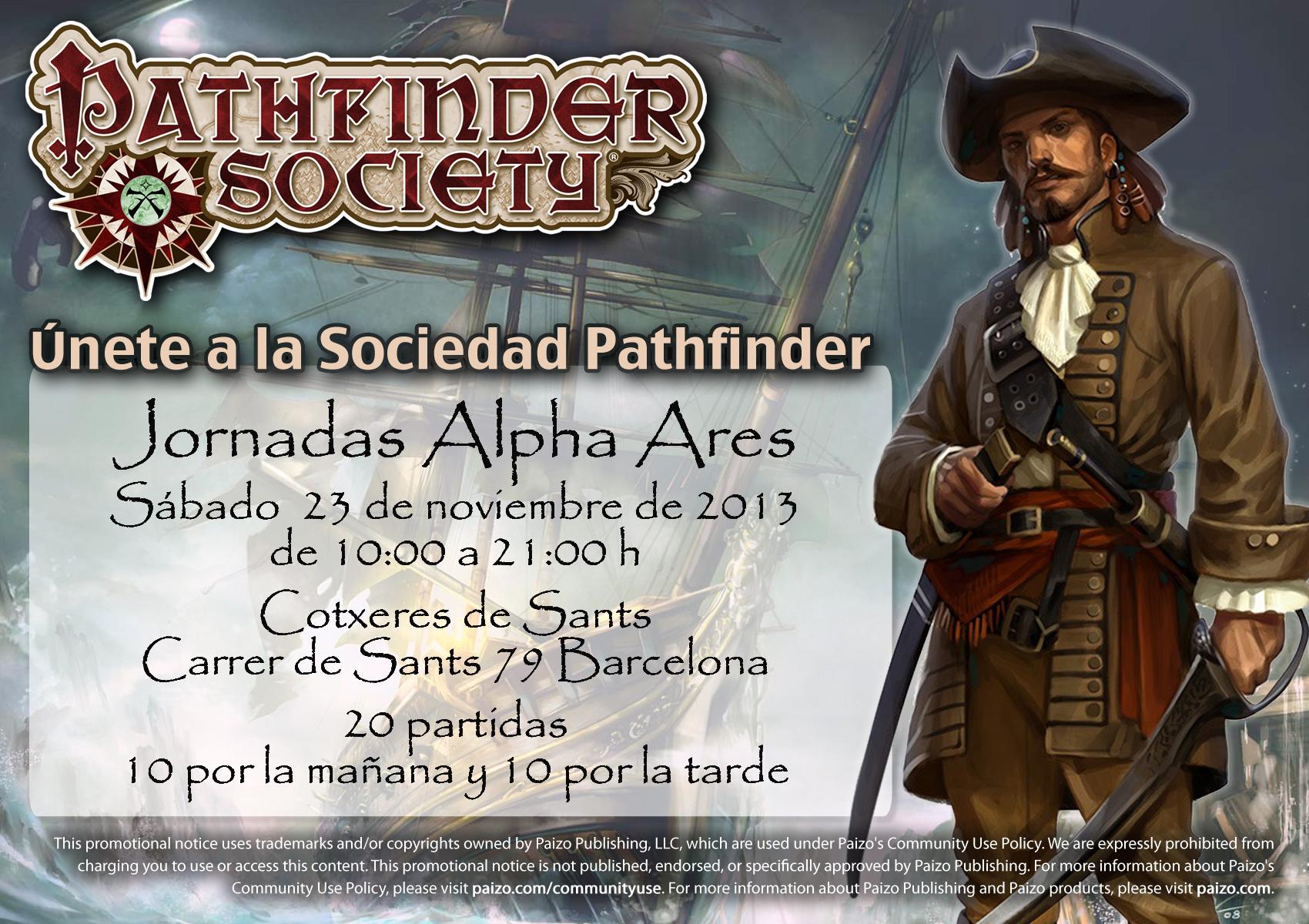 Sociedad Pathfinder en las Alpha Ares