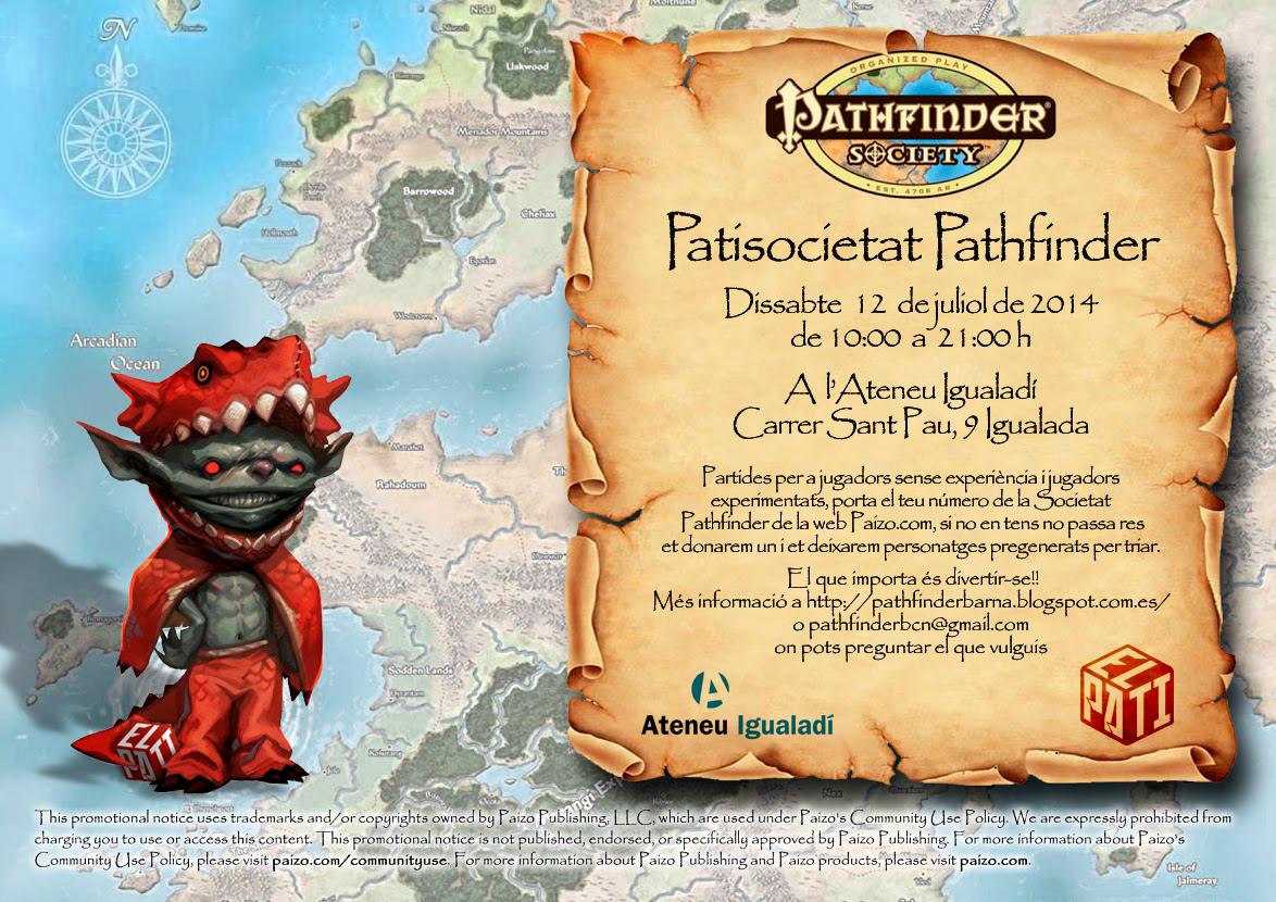 PatiSocietat Pathfinder Julio 2014